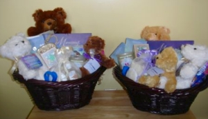 Memory Baskets donated to hospitals including our My Forever Child Pins