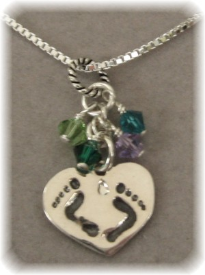 All My Kids Personalized Footprint Charm