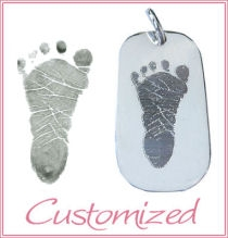Custom Handprint & Footprint Jewelry~Charms, Pendants, Key Chains, Cufflinks