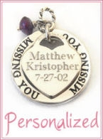 Thinking Of You Personalized Charm