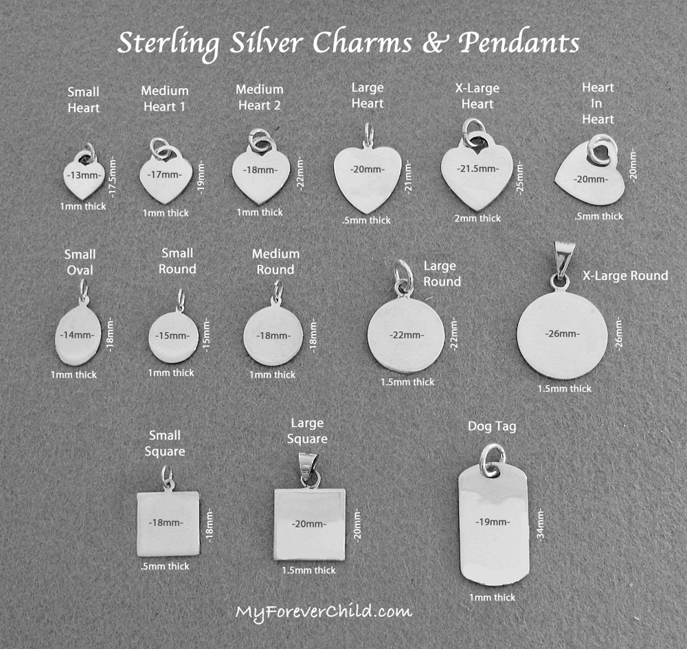 custom crest silver gosling double bottom front engraving stirling sided engravable engraved hallmark family reverse on side edge pendant